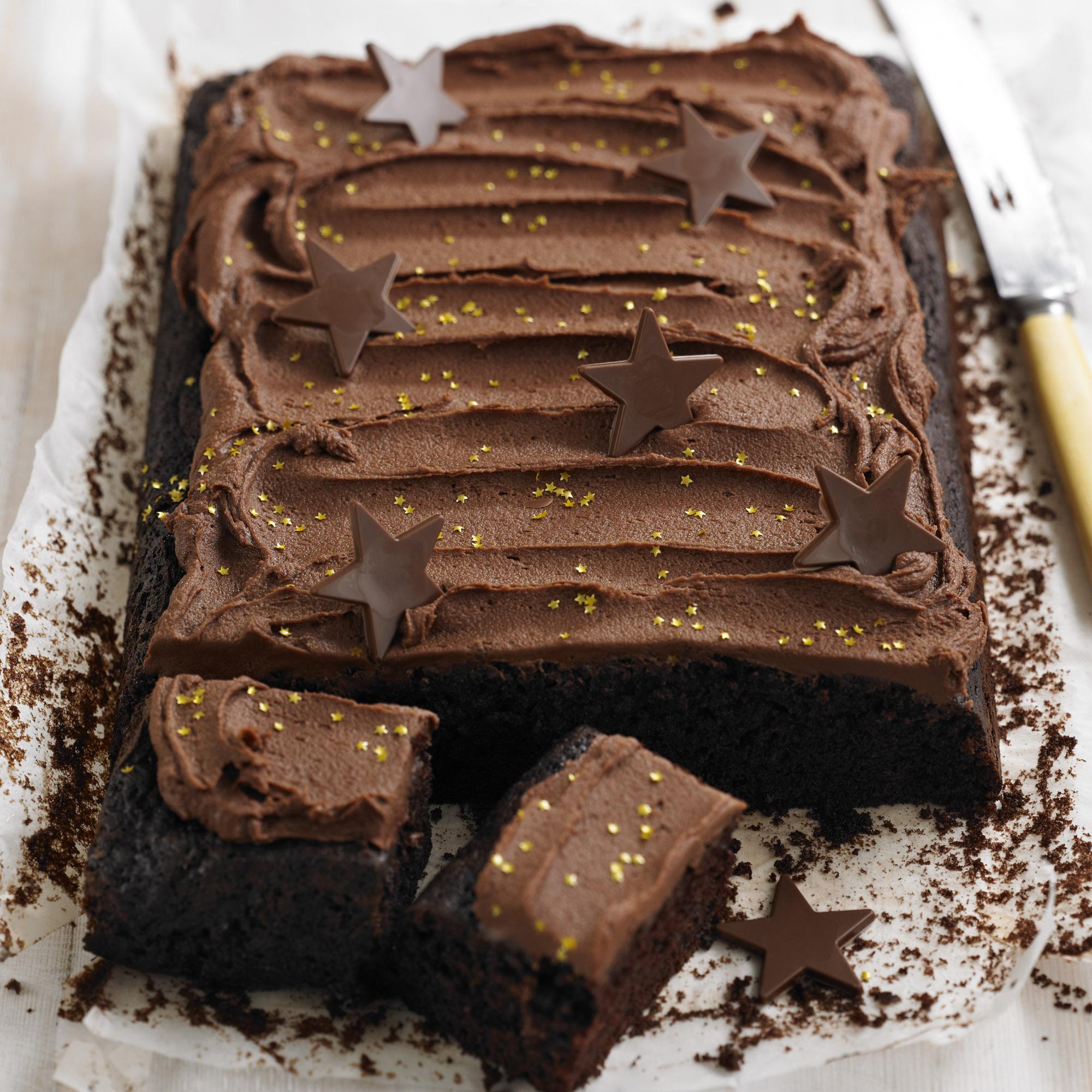 Chocolate Tray Bake Birthday Cake Woman And Home