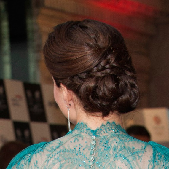 Kate Middleton Hair - Kate Middleton Updo Hairstyle - Back ...