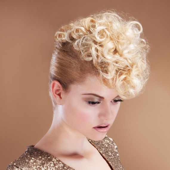 Curly Quiff Hairstyle