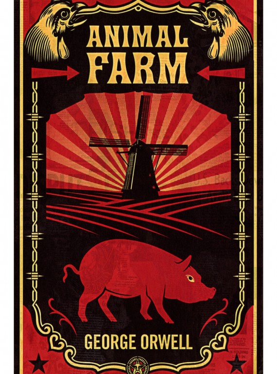 An analysis of the russian revolution in the book animal farm by george orwell
