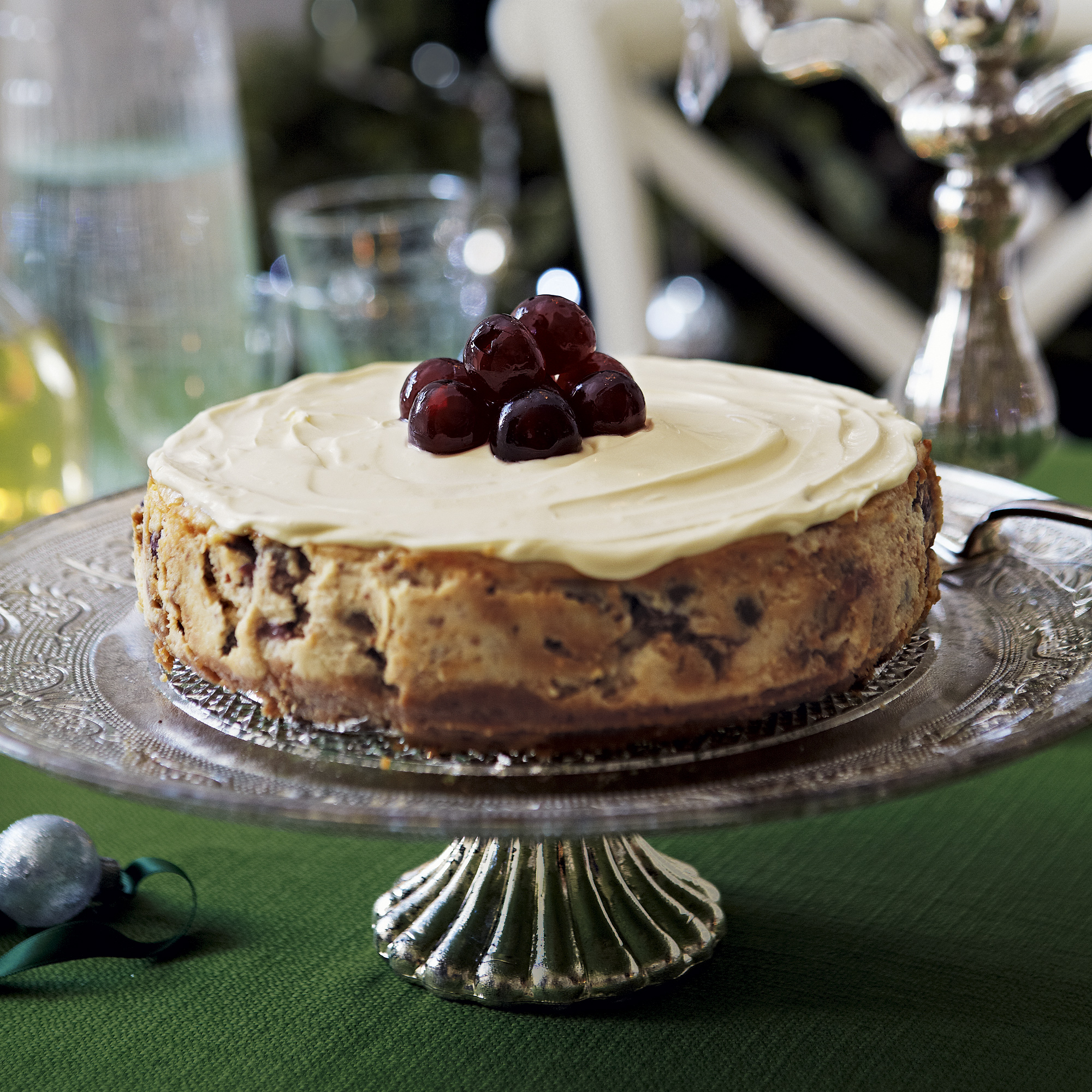 Christmas Cheesecake With Soaked Fruits
