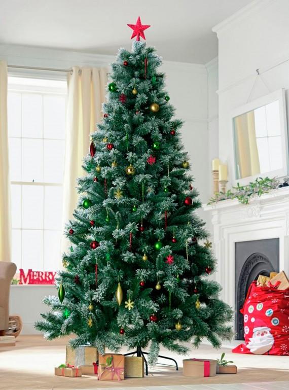 Artificial Christmas Trees Argos 7ft Prelit Snow Tipped