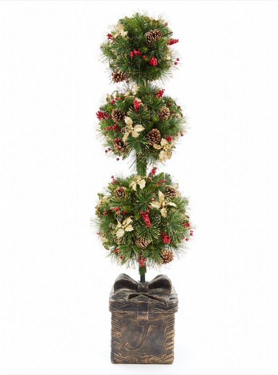 Artificial Christmas Trees Dobbies Holly Ball Topiary 163
