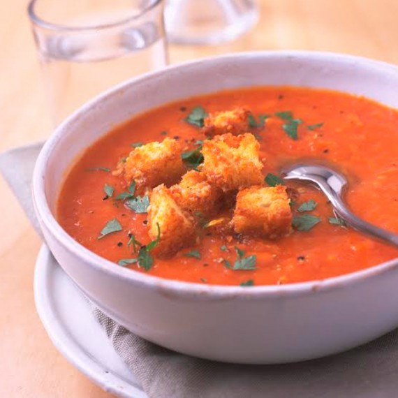 Roasted Tomato And Vegetable Soup Recipe: Roasted Squash And Tomato Soup