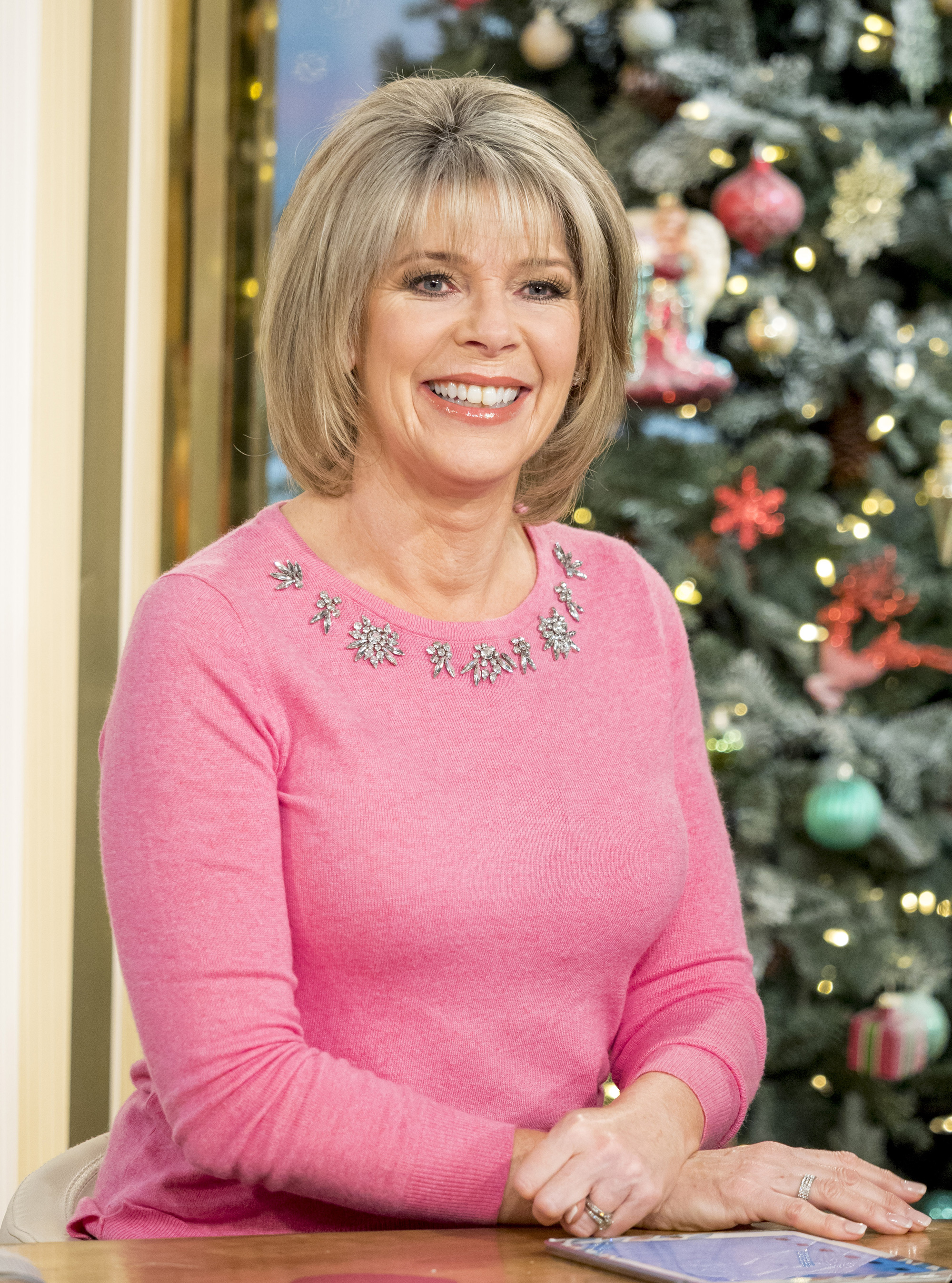 Fans Love Ruth Langsford's Festive Pink Jumper Live On